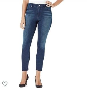 Nine West Gramercy skinny ankle jeans dark wash 16